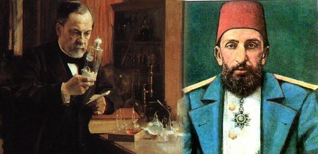 Abdülhamid Han'ın Pasteur'ü mecidiye nişanı ile taltif etmesi
