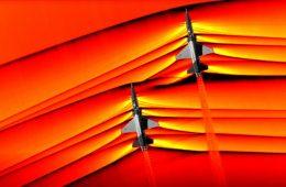 İki süpersonik uçaktan yayılan şok dalgaları görüntülendi